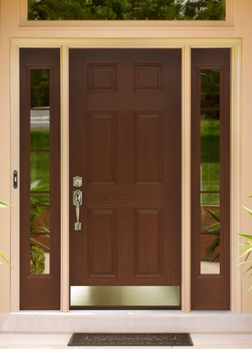 What to look for in a new entry door thompson creek for Fiberglass doors pros and cons