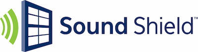 Sound Shield logo. Sound Shield is a trademark of Thompson Creek Window company