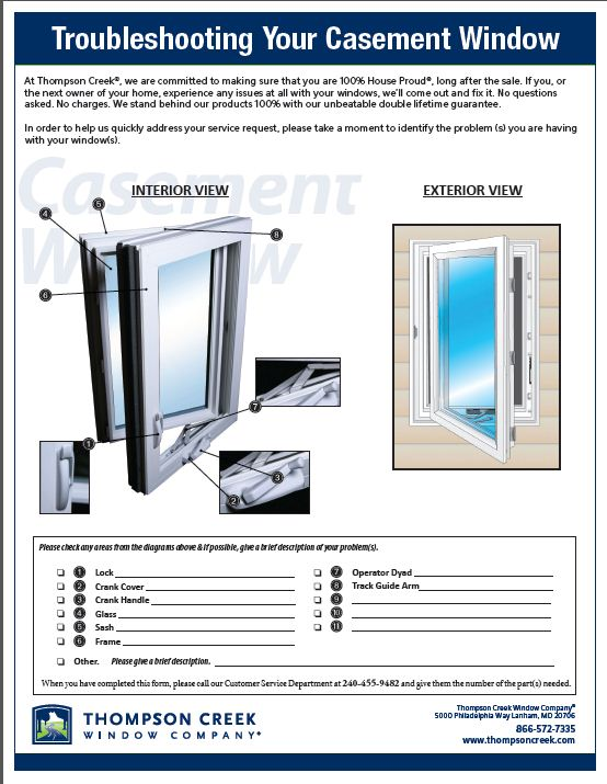 Troubleshoot Casement Window