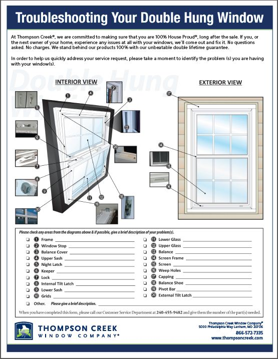 Troubleshooting Double Hung Window