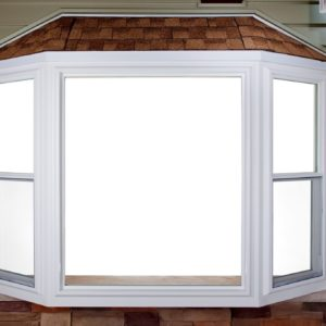 bay window with screen closed
