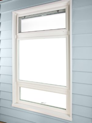 awning and hopper window side closed no screen