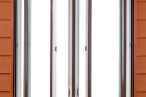 twin casements exterior both open
