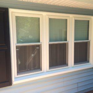 3 double hung window triple unit no grids