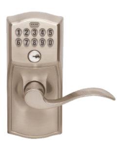 Schlage Accent Lever Electronic Lockset - Satin Nickel