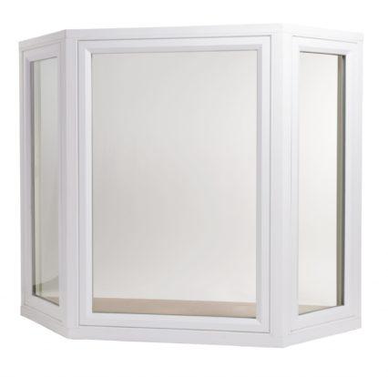 bay window with white vinyl