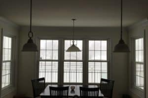double hung windows in dining room