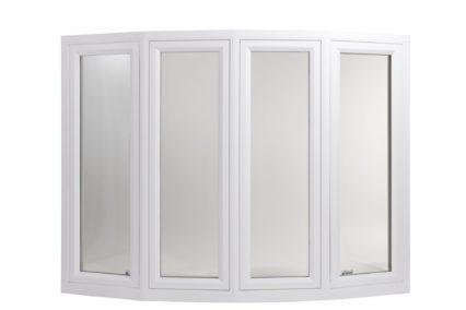 bow window with white vinyl