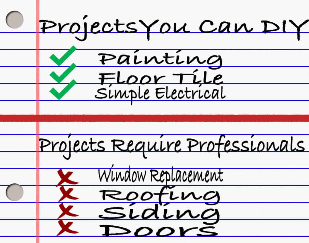 When to do DIY Projects or Hire a Professional