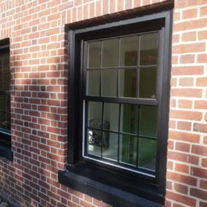 Double Hung Window Painted