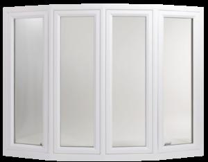 Tall four panel white window