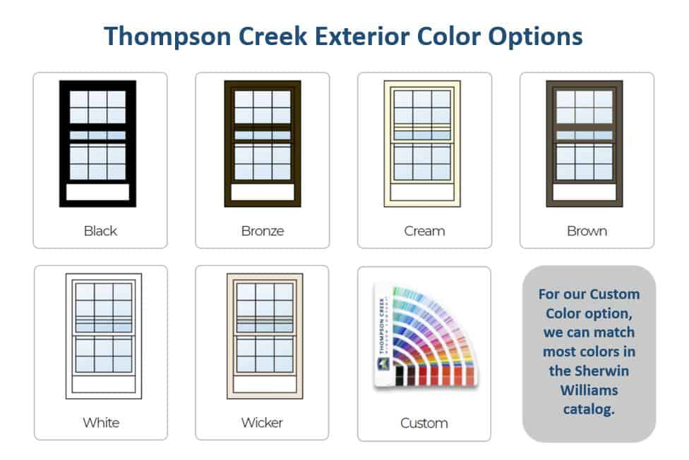 Thompson Creek exterior color options for windows