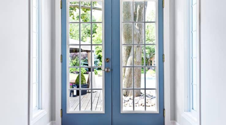 beautiful french doors open