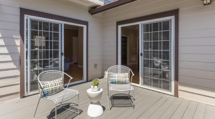 beautiful sliding door on patio