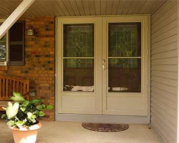 double fornt doors with storm doors