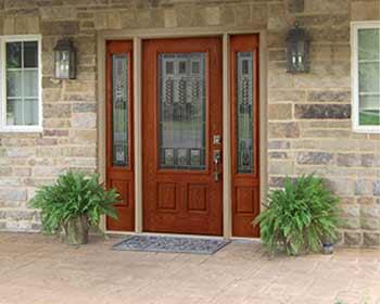 Fiberglass Door with Sidelights