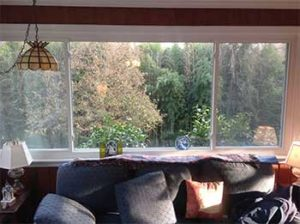 3 Panel Sliding Window in Living Room