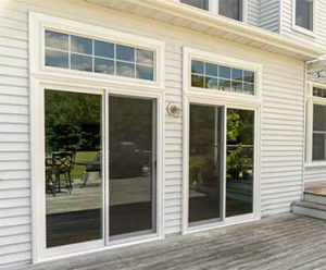 Double Sliding Patio Doors with Transoms