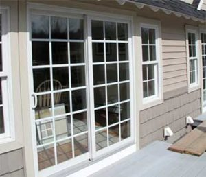 Exterior Sliding Doors with Grids