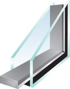 double glass pane