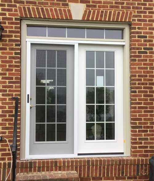 French Patio Doors in Grey White