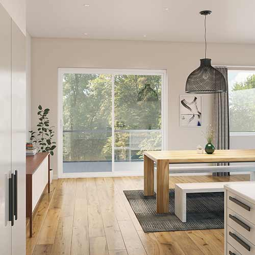 Sliding Glass Doors in Kitchen