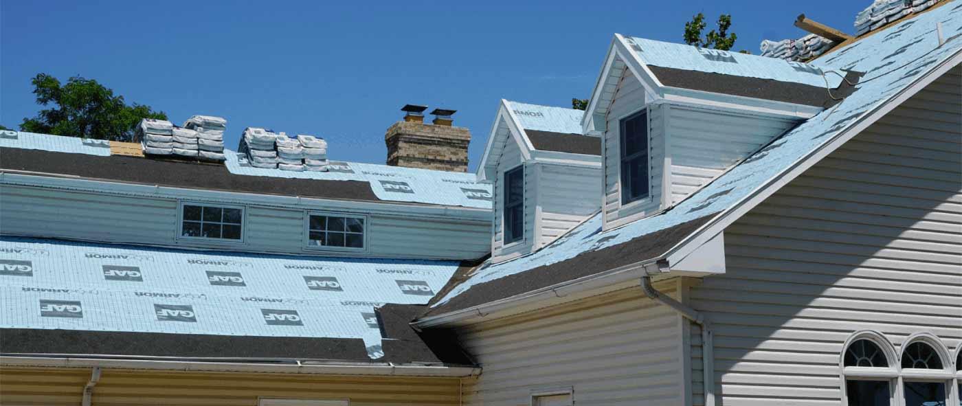Prep for asphalt shingles installation on roof of home