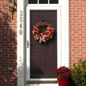 Autumn,Wreath,On,Door